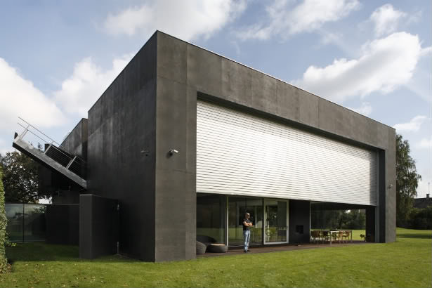 casa cubica din beton