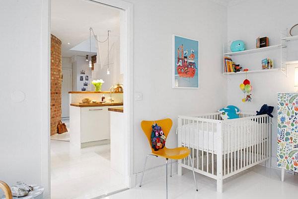 camera copilului in stil scandinav