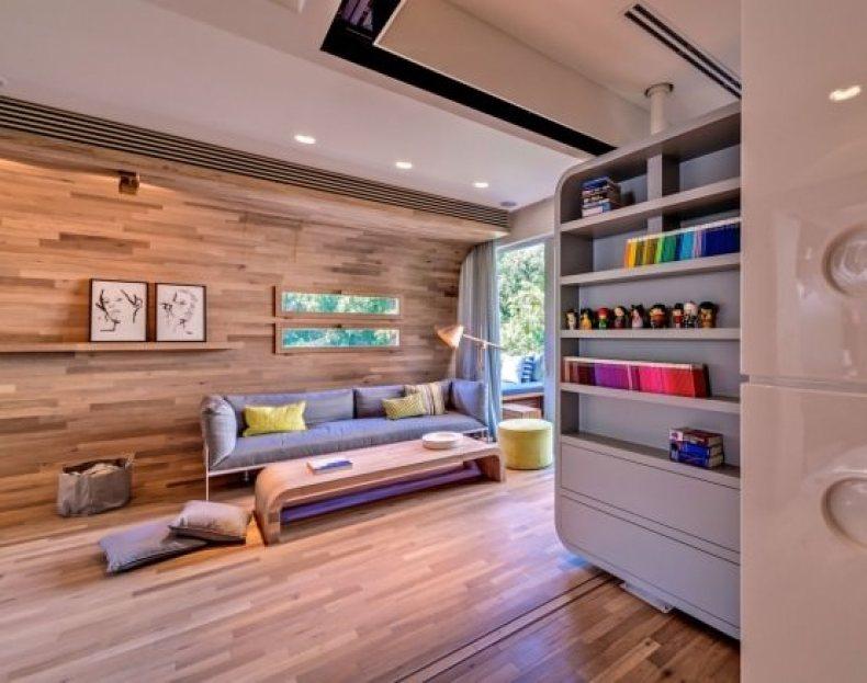 living plin de lemn - apartament modern