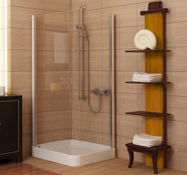 Simple Shower Cabin Small Bathroom Ideas Wood Wallbars