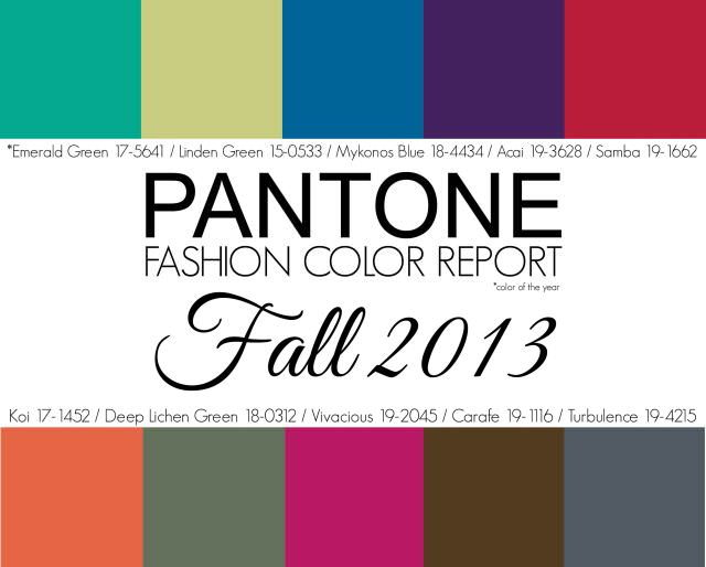 Culorile toamnei 2013 conform codului Pantone