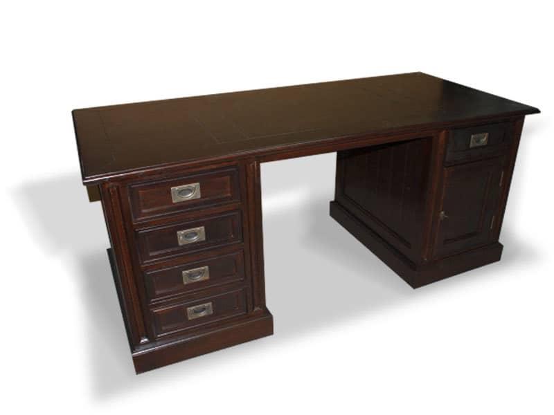 birou din lemn masiv de stejar model Bergen
