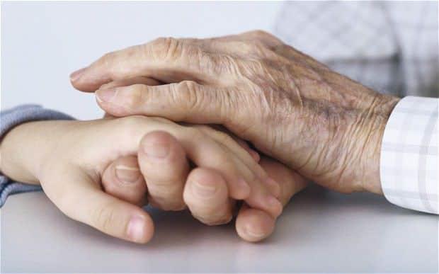 mana bunicului - Multumesc