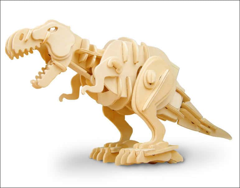 puzzle 3D dinozaur