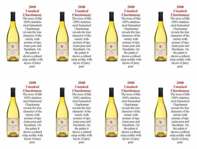 sticle de vin alb Unoaked