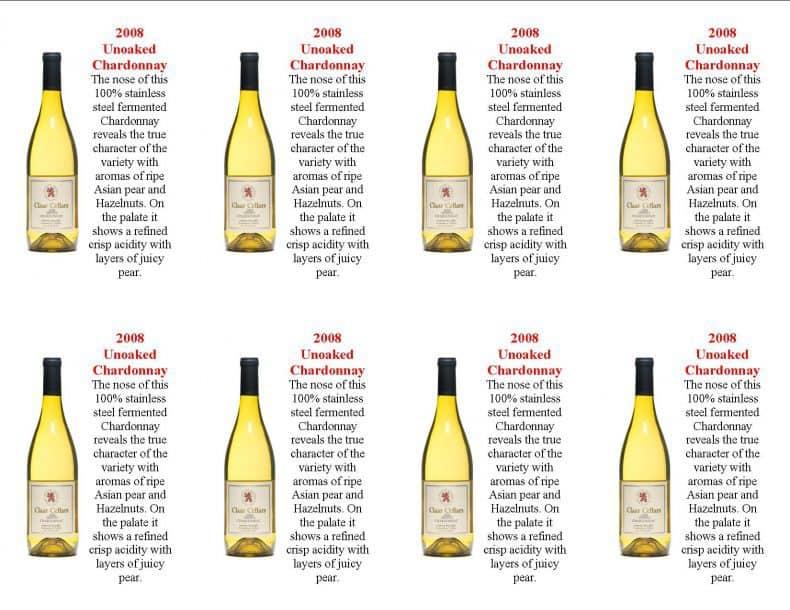sticle de vin alb Chardonnay Unoaked