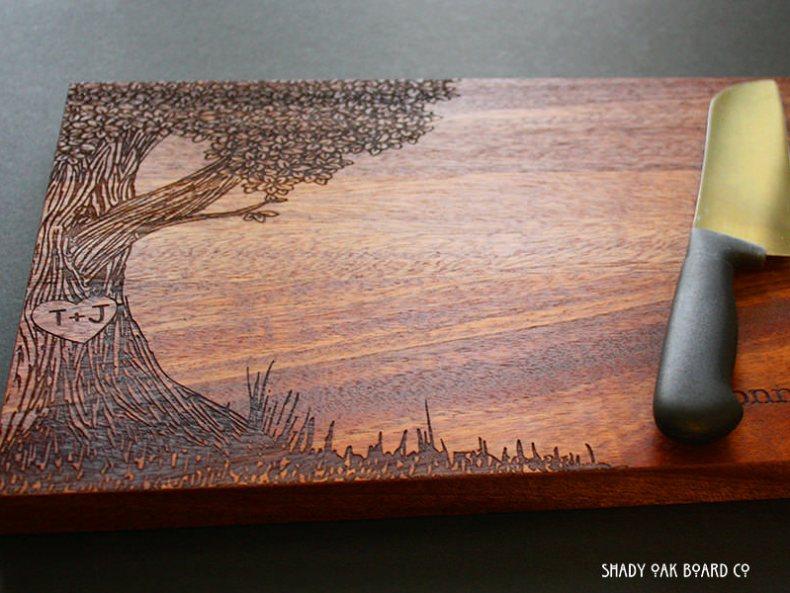 tocator fund de lemn din lemn masiv