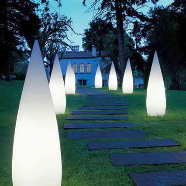 lampi conice mate - iluminatul exterior