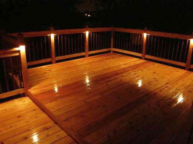 decking iluminat - iluminatul exterior