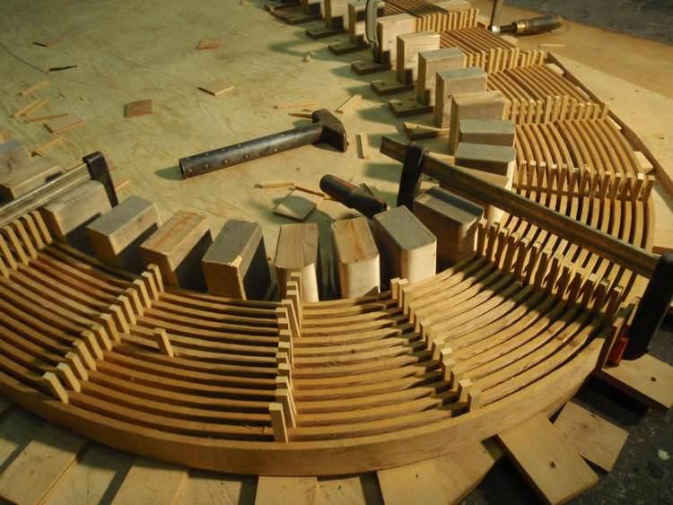 fabricarea elemente de lemn curbate