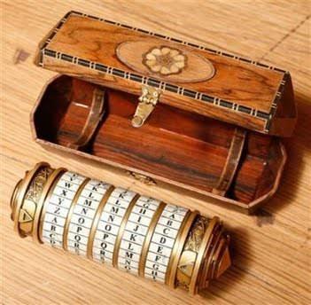 cutie de lemn și Criptex - inchidere