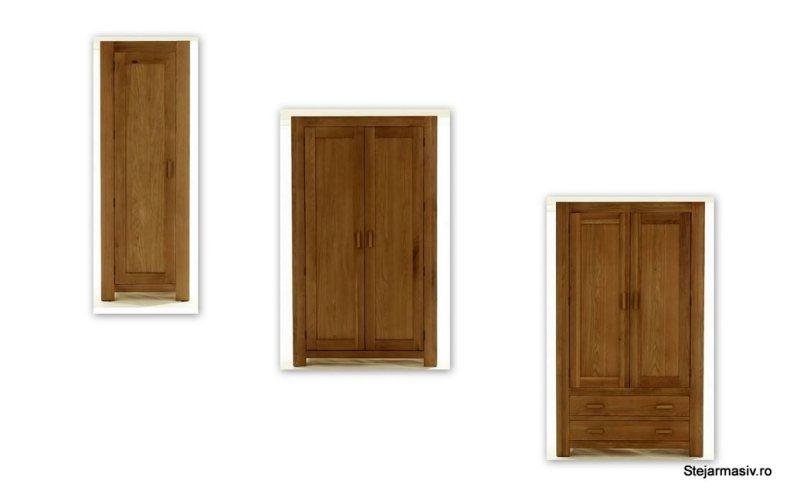 mobila din lemn masiv de stejar - dormitor englezesc