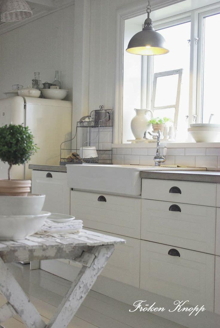 Design suedez autentic - alb vintage- Fröken Knopp