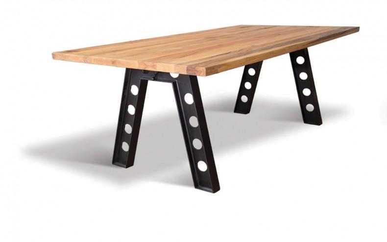 masa din lemn si metal model London