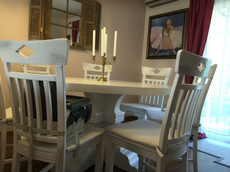 set de scaune scaun din stejar Dijon
