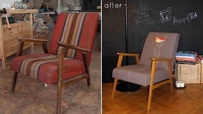 fotoliu - mobilier vechi reconditionat