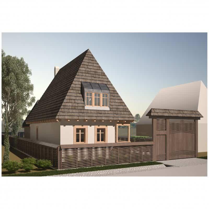 Proiect de casa - 120 mp parter + mansarda