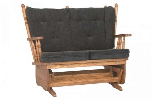 Burress Amish Furniture Loveseat Glider