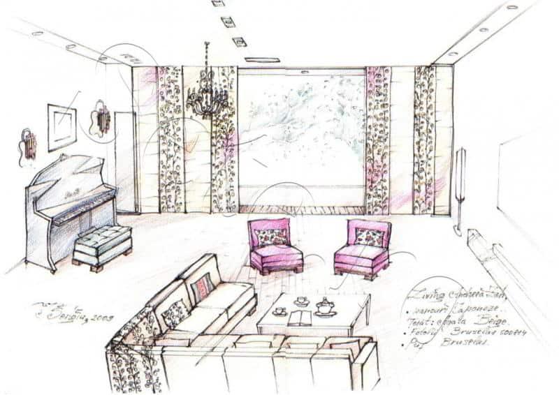 Design interior Living Baneasa sete.ro