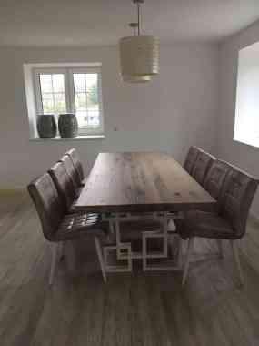 set de masa și scaune din stejar