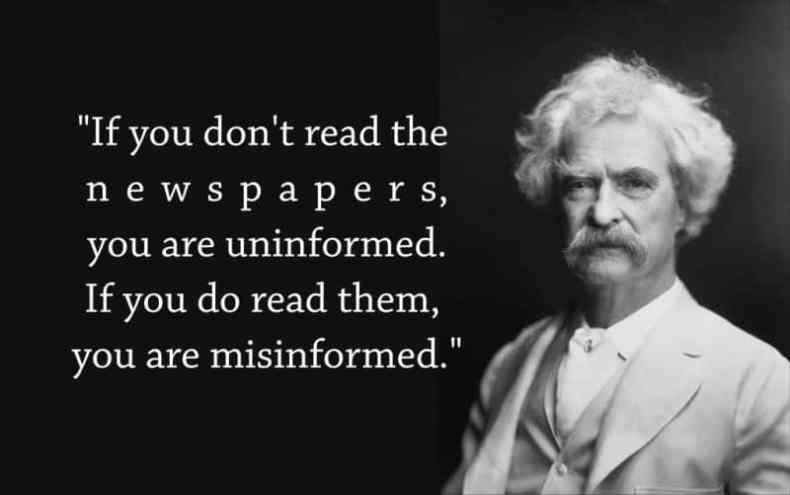 Mark Twain dezinformare