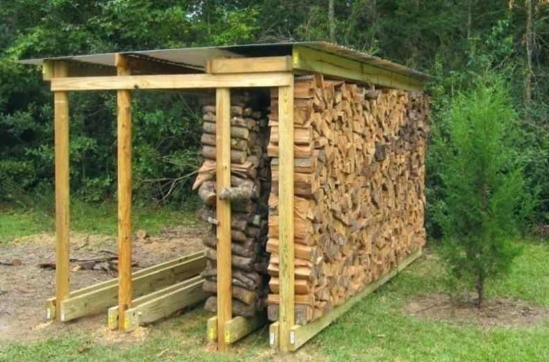 lemne pentru foc - stiva aerisita
