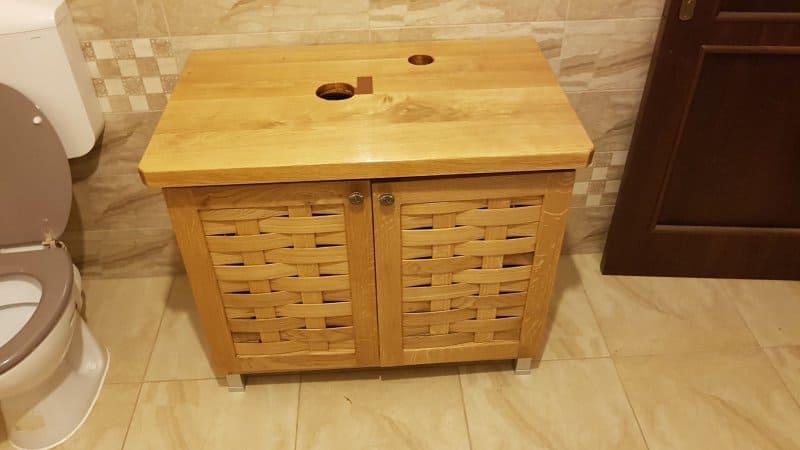 detalii din procesul de fabricatie pentru mobilier de baie