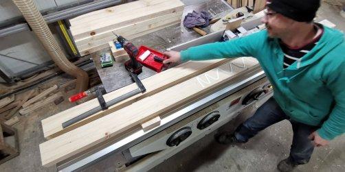 grinzi din lemn lamelare lipite și prinse cu holzșuruburi