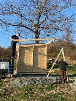 montaj magazie din lemn