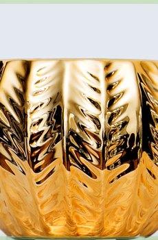 Retro goud sierpot plantenpot 6cm