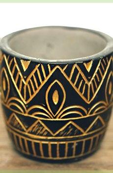 Cleopatra gold plantenpot bloempot sierpot 6 cm