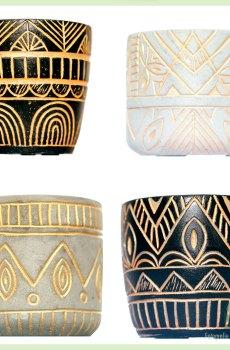 Serie Cleopatra-Maya-Osiris-Nebthet bloempot sierpot 4 st