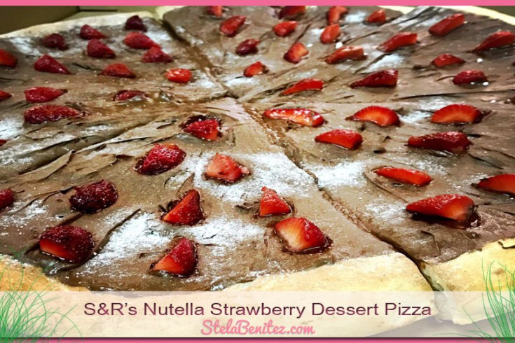 Nutella Strawberry Dessert Pizza