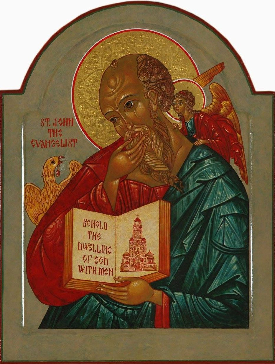 St. John the Evangelist, 2015, by the hand of Faye Drobnic