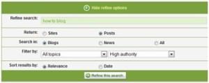 blogg topics research