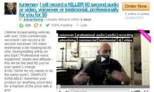 fiverr outsourcing audio-online business