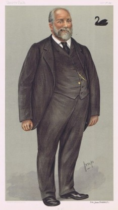 John Forrest as portrayed by Julius Mendes Price for Vanity Fair, 1897