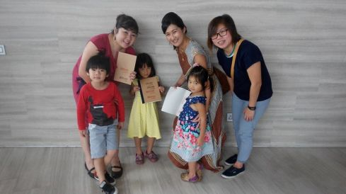 With Frasers Centrepoint Malls' Jill and her two girls, and Karin from InkEngineers.