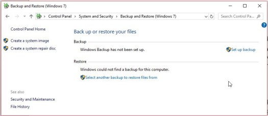 Restore permanently deleted files from backup