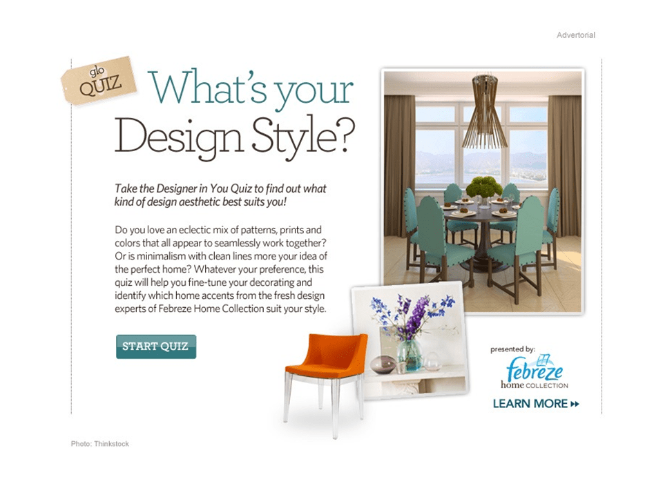 Interior design styles quiz for Design style test