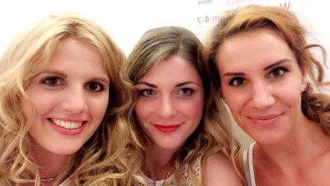 Mit Sylvia und Sandra beim Casting in München