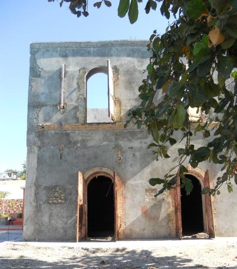 old storage building