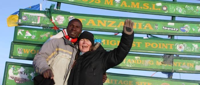 Jacob and Helena at Uhuru Peak in 2013