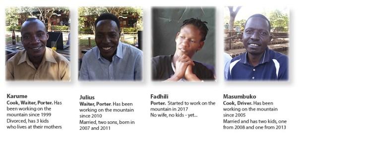 Crew on Kilimanjaro - some of them