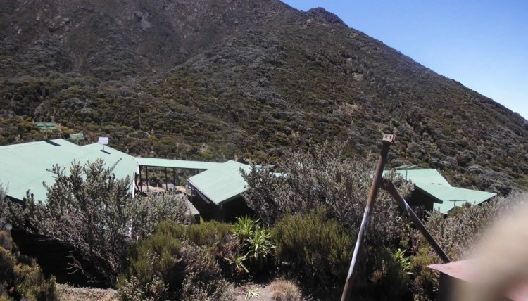 Huts on Mt Meru