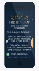Download your free 2018 Dates For The Diary Bookmark