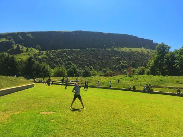 Objectif  monter au sommet de la colline du Siège d'Arthur