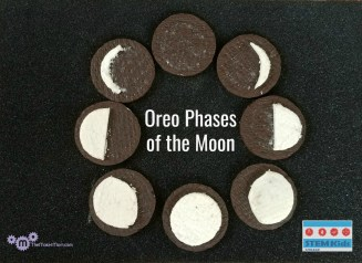 Phases of the Moon with Oreo Cookies for International Observe the Moon Night