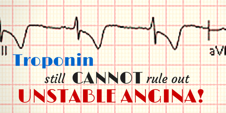 Troponin and unstable angina