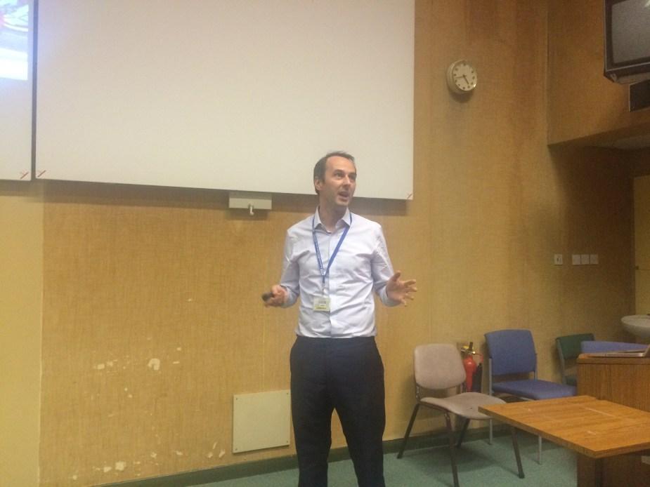 Dan Horner gives a dynamic presentation